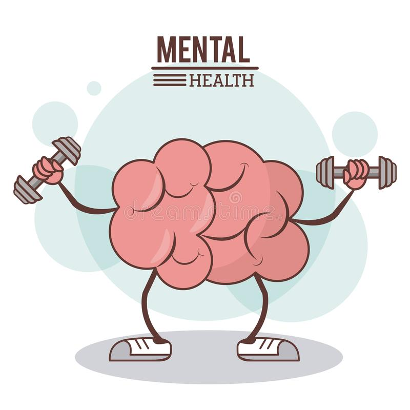 Mental health concept. brain training exercise healthy image royalty free illustration