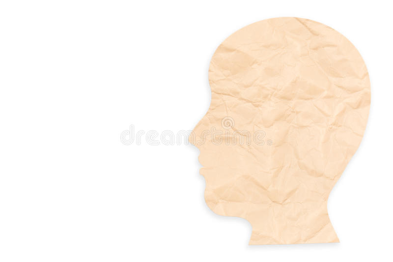 Mental health concept. With side face on white background stock photo