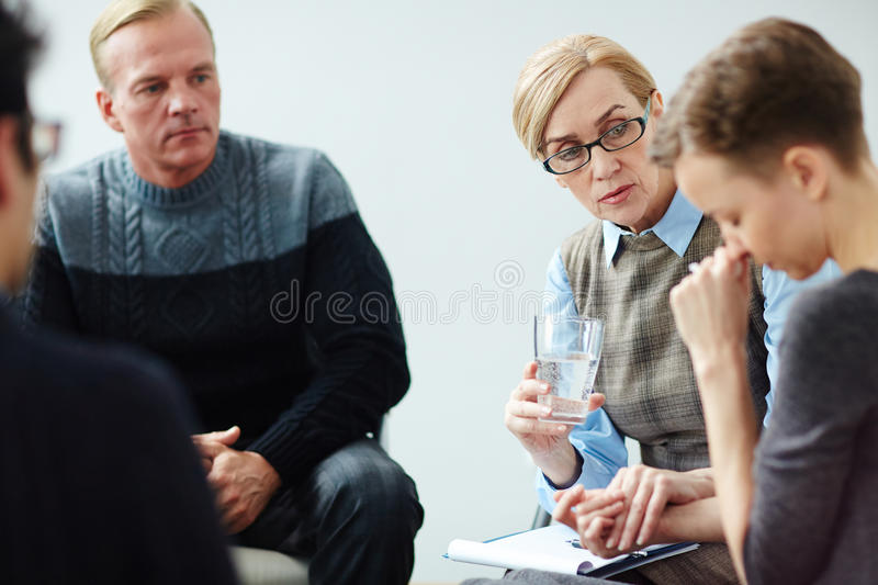 Mental Health Counselling in Support Group royalty free stock photo