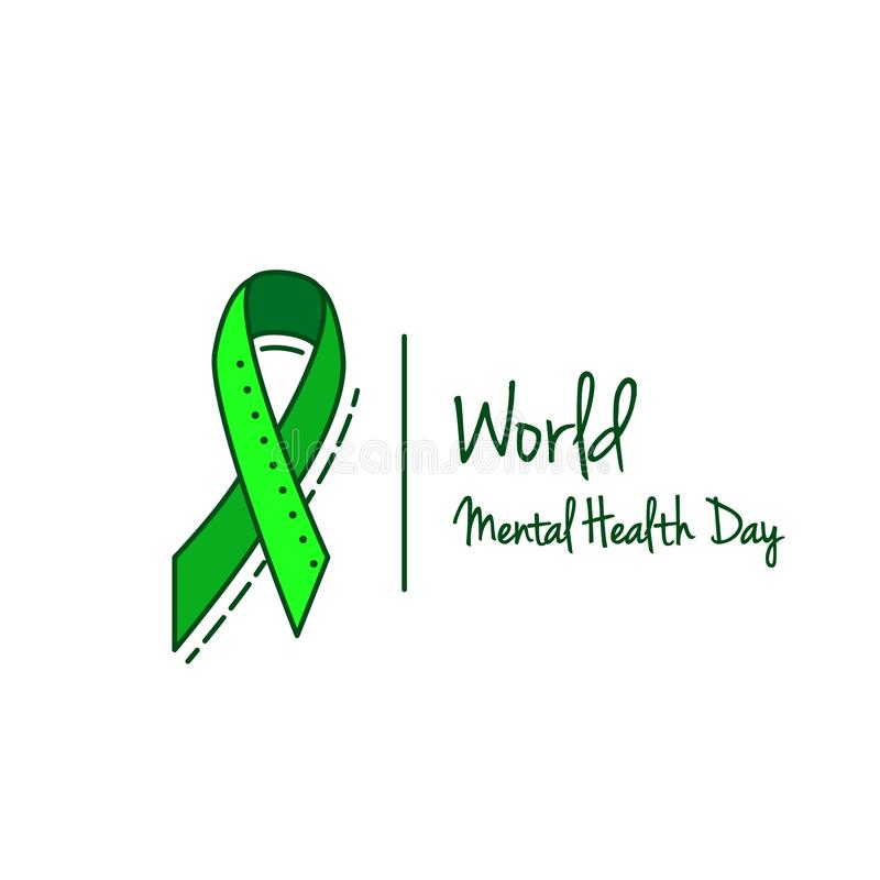 Mental Health Hepatitis B And Liver Cancer Or Non Hodgkin Lymphoma Awareness Green Ribbon Vector Background