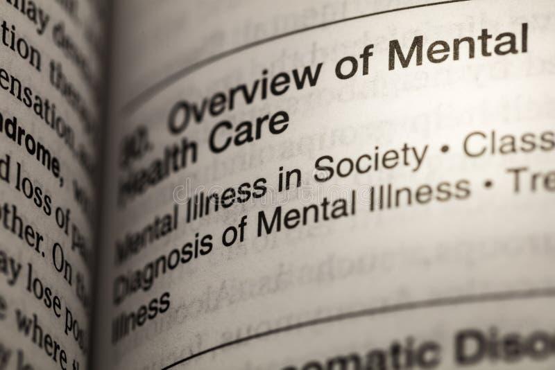 Mental health illness dictionary definition stock photo