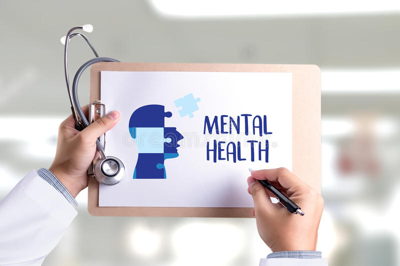 MENTAL HEALTH Mental Psychological Stress Management and Psychological trauma Health royalty free stock photography