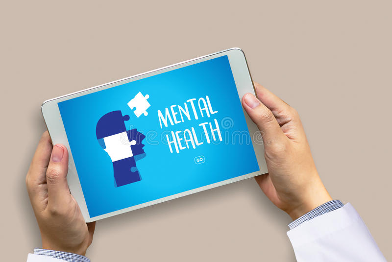 MENTAL HEALTH Mental Psychological Stress Management and Psychological trauma Health royalty free stock photos