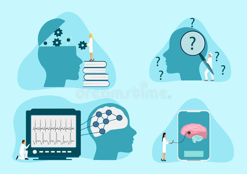 Mental health therapy stock illustration