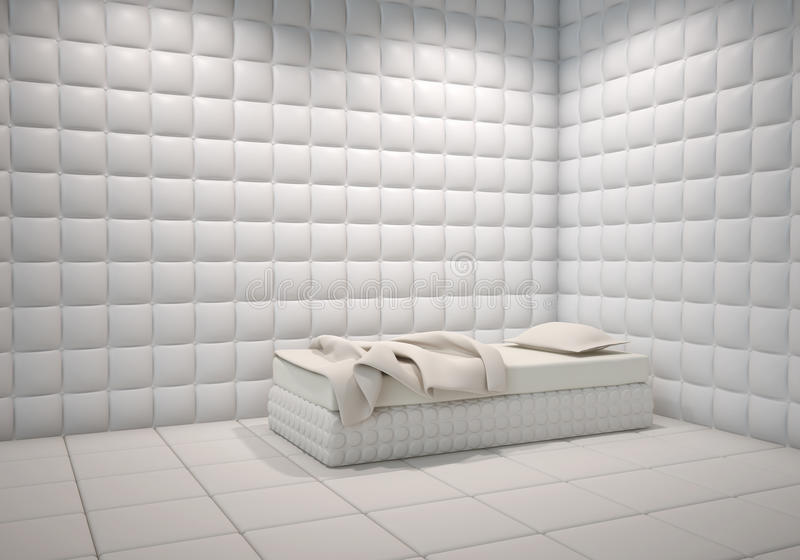 Mental hospital padded room royalty free illustration