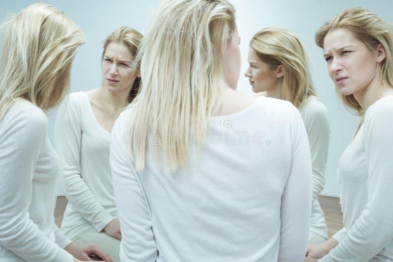 Mental illness and paranoia stock photos
