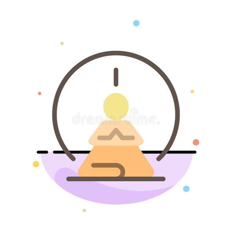 Mental koncentration, koncentration, meditation som är mental, för färgsymbol för mening abstrakt plan mall stock illustrationer