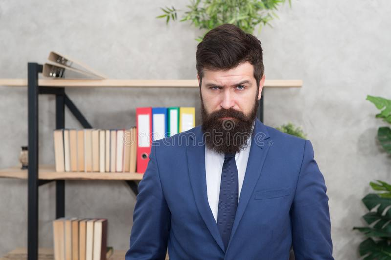 Mental process of choosing from set of alternatives. Hard decision. Business decision. Man bearded businessman. Thoughtful face solving problem making decision royalty free stock photo