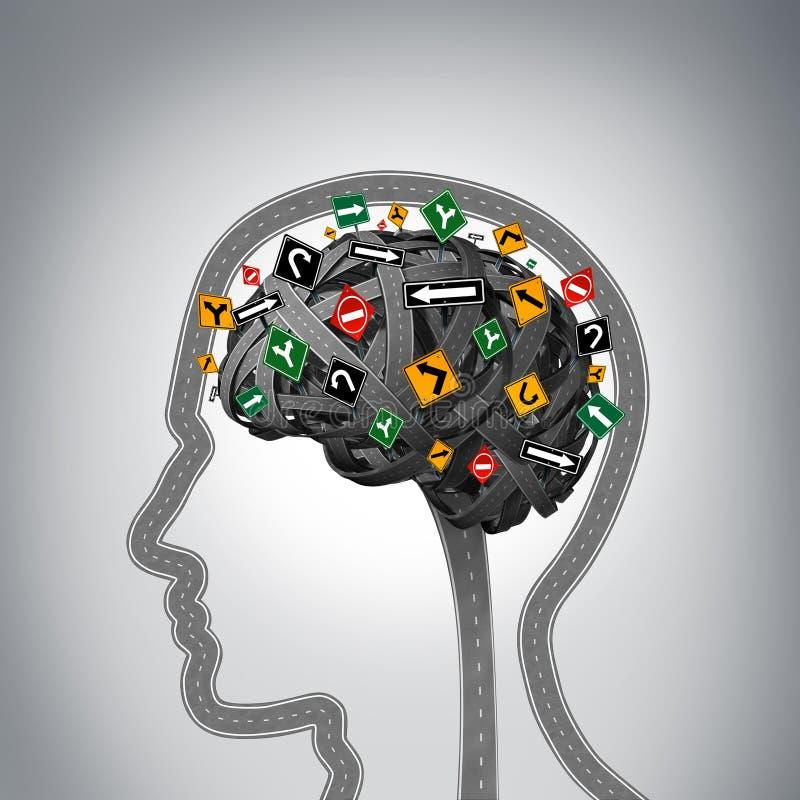 Mental spänning vektor illustrationer