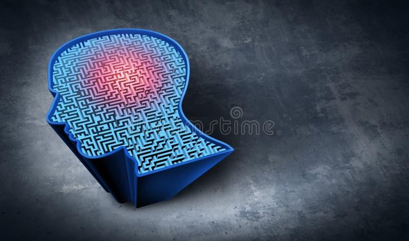 Mental terapi för problemlösning royaltyfri illustrationer