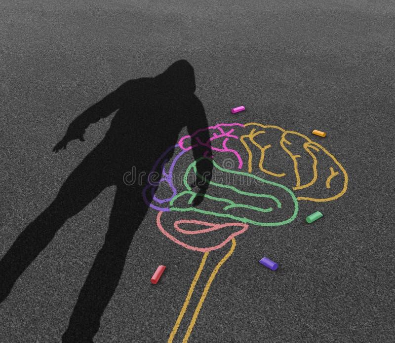Mentalsjukdomvåld vektor illustrationer