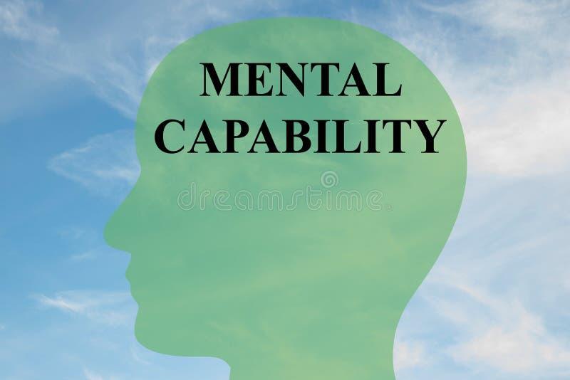 Mentalt kapacitetsbegrepp stock illustrationer
