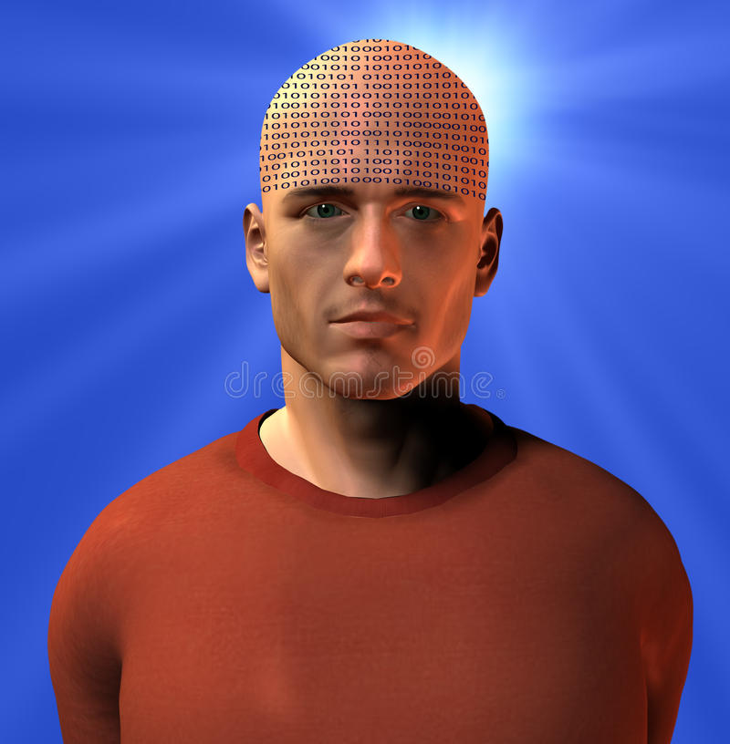 Mente binaria ilustración del vector