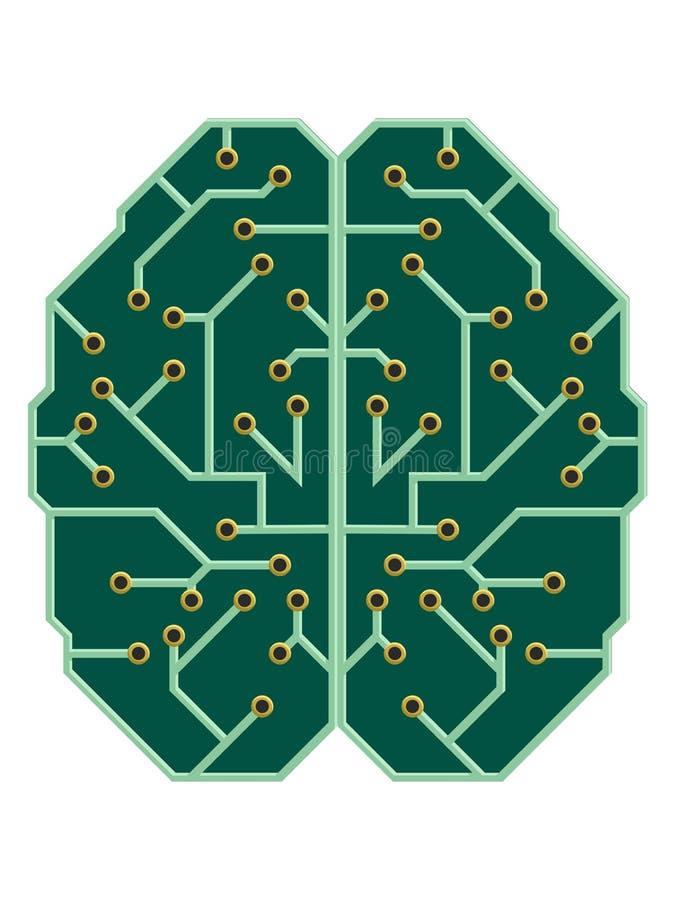 Mente come circuito stampato elettrico illustrazione di stock