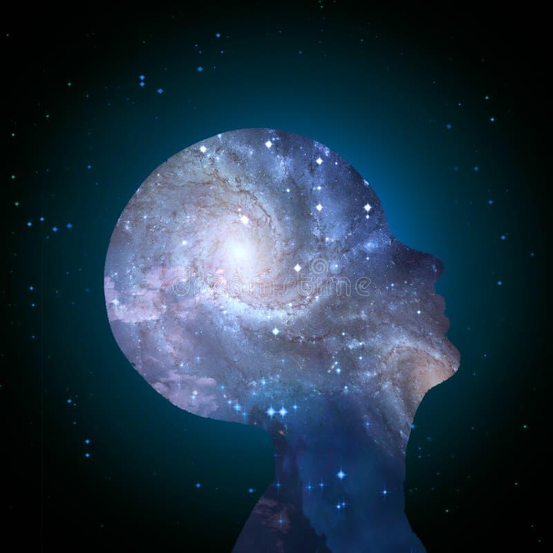 Mente da galáxia ilustração royalty free