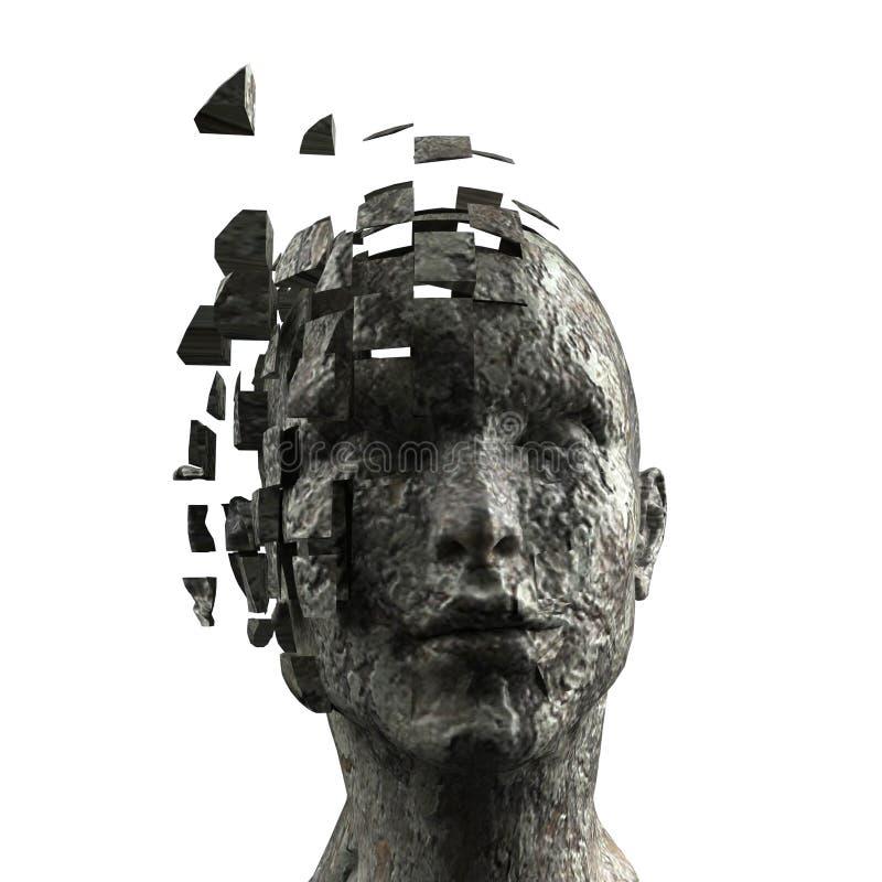 Mente de la mujer ilustración del vector