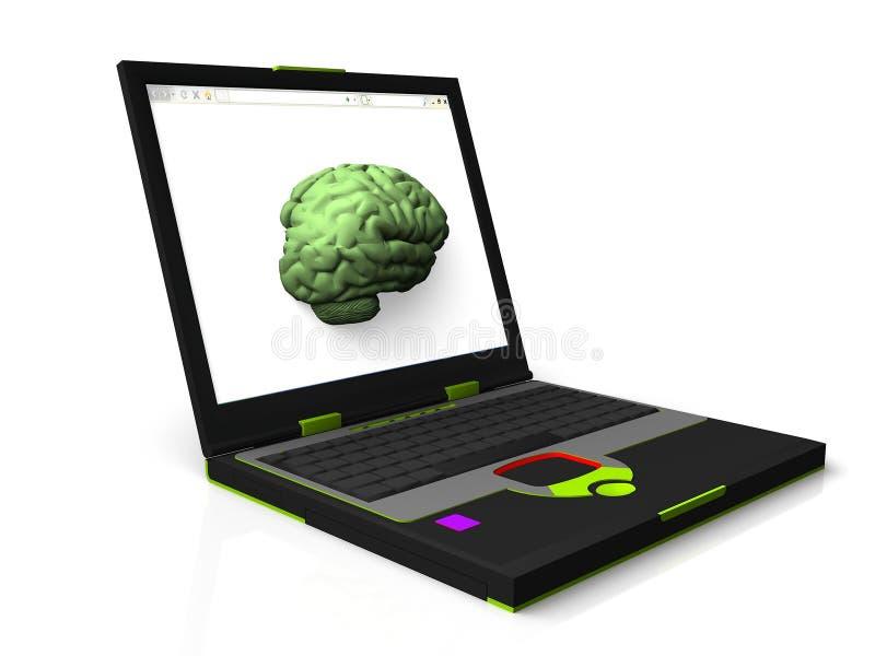 Mente de um computador ilustração do vetor