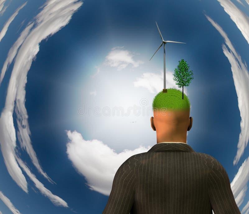 Mente di Eco illustrazione di stock
