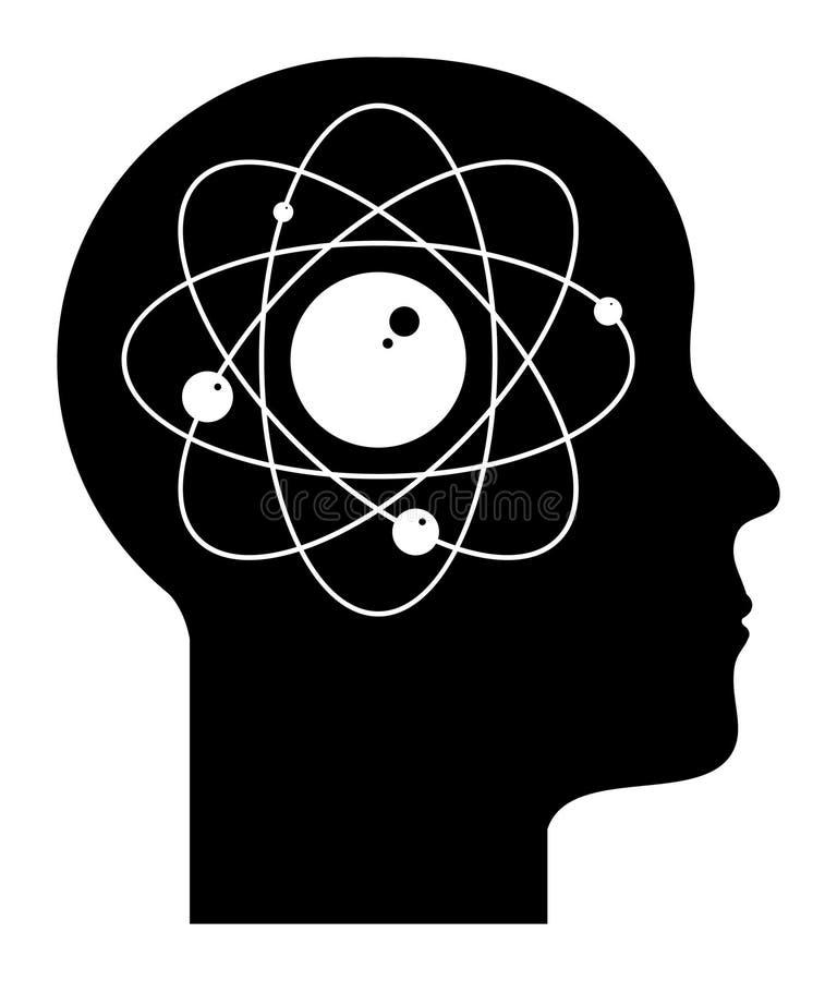 Mente humana - átomo ilustração do vetor