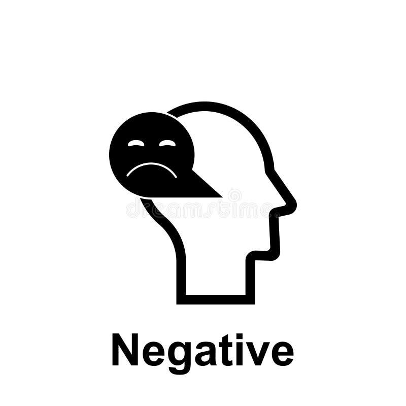 Mente humana, ícone negativo Elemento do ?cone da mente humana para apps m?veis do conceito e da Web A linha fina mente humana, í ilustração do vetor