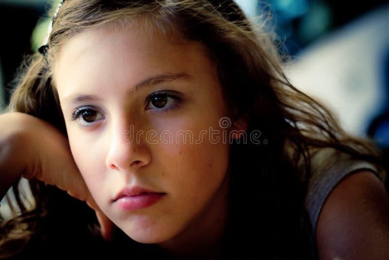 Mente incomodada adolescente fotografia de stock royalty free