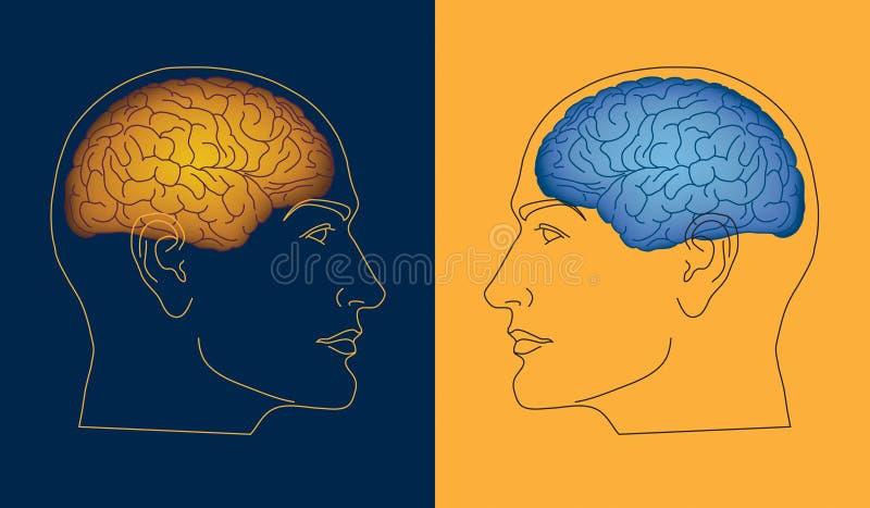Mentes opostas ilustração royalty free