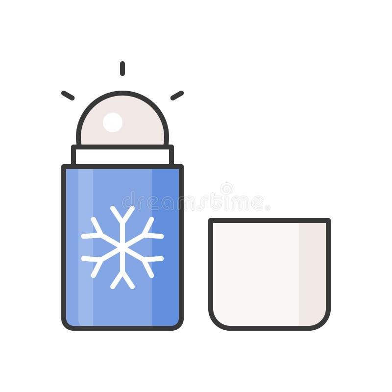 Mentholrolle auf desodorierendem Mittel stock abbildung
