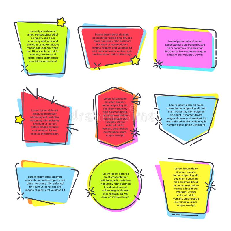 Mention Quotation Template In Frame Quotes Vector Stock