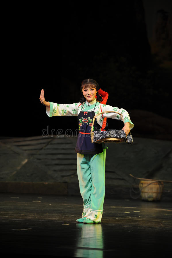 Mentioning blue woman- Jiangxi opera a steelyard. Jiangxi opera a steelyard is adapted from a true story: the last century fortys, the protagonists father runs royalty free stock photography