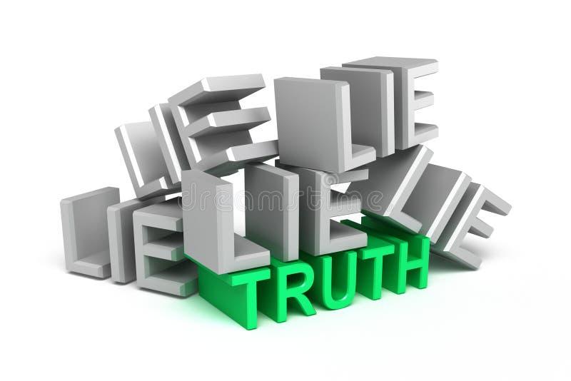 Mentira del onder de la verdad ilustración del vector