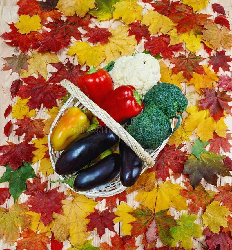 Mentira hermosa de las verduras en una cesta Alimento sano fotografía de archivo libre de regalías