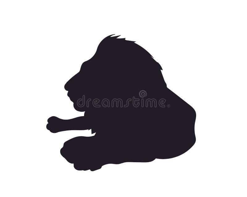 Mentiras del león, silueta, vector, libre illustration