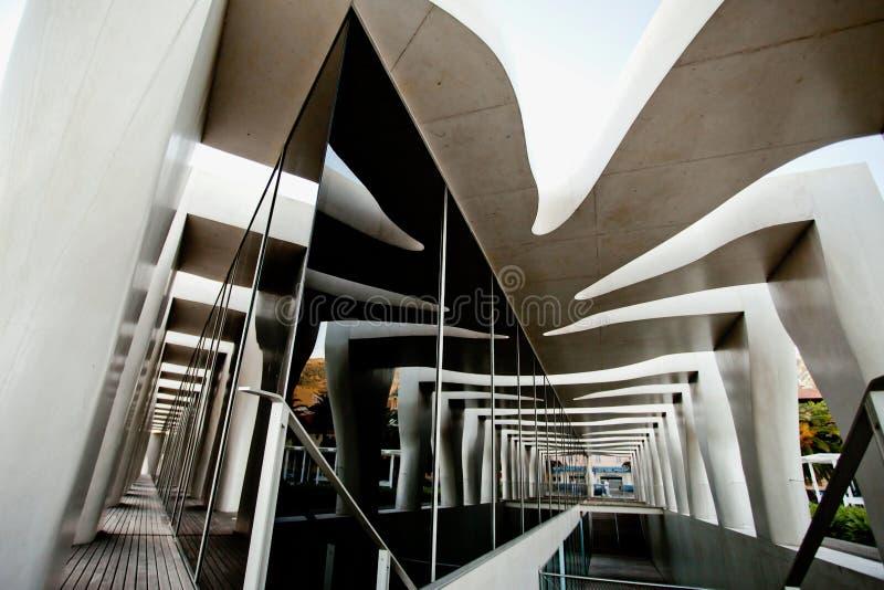 MENTON, ΓΑΛΛΊΑ - 15 ΣΕΠΤΕΜΒΡΊΟΥ: Τρομερή πρόσοψη του μουσείου του καλλιτέχνη Jean Cocteau στοκ εικόνα