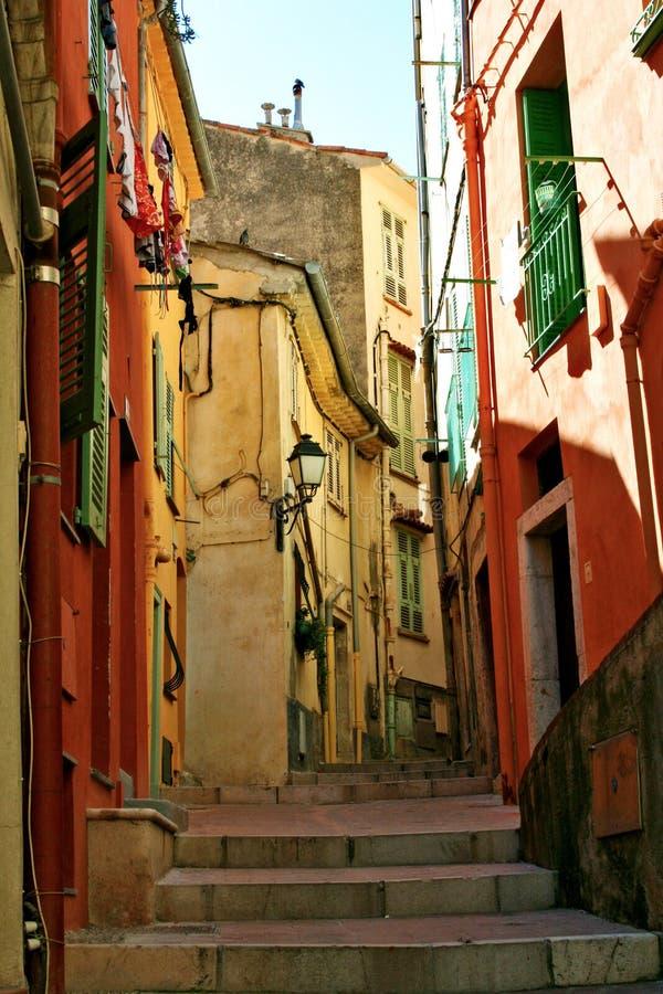menton переулка стоковая фотография rf