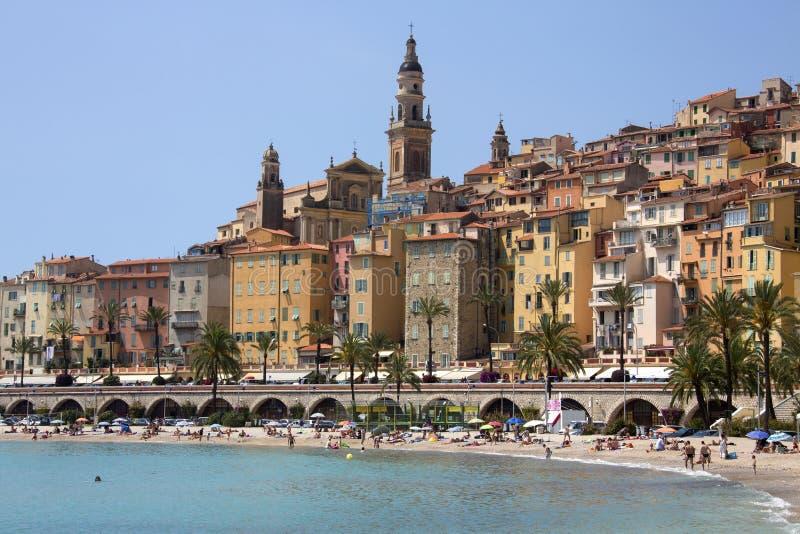 Menton - d'Azur del Cote - Riviera francese immagine stock libera da diritti