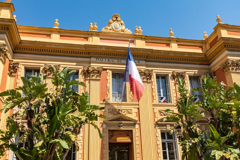 MENTON, FRANCE - JUNE 05, 2019: Old town architecture of Menton on French Riviera. Provence-Alpes-Cote d`Azur, France.  stock images