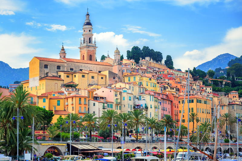 Menton, France stock images