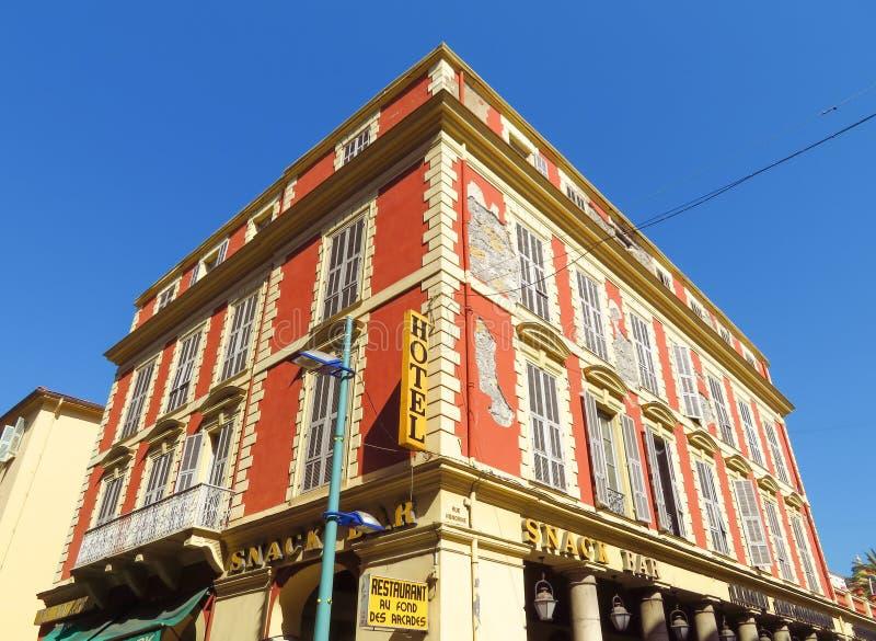 Menton - Hotelowe Des arkady obrazy stock