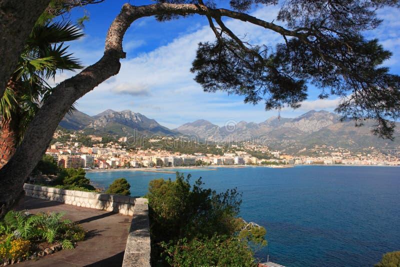 Menton, la Côte d'Azur image libre de droits