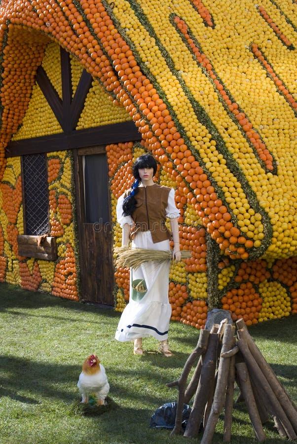 Menton Lemon Festival royalty free stock photo