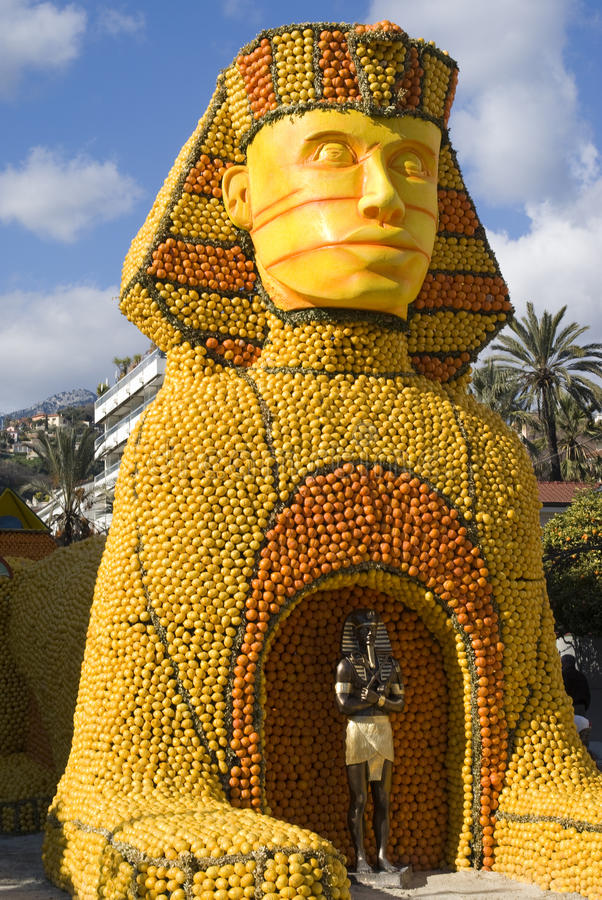 Menton Lemon Festival. (From February 18th to March 9th 2011). Menton, situated between the Italian border and Monaco, is widely celebrated for its Lemon royalty free stock photography