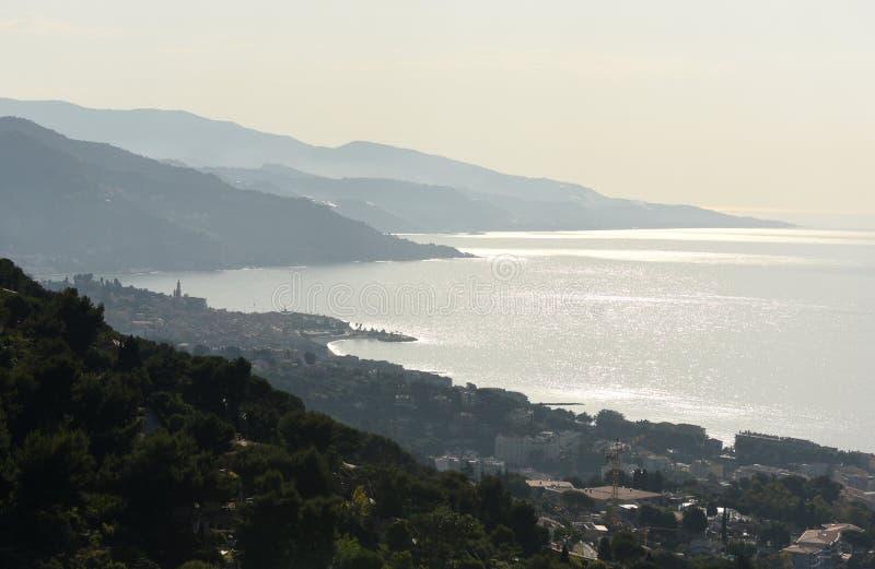 Menton, Provence-Alpes-Côte d 'Azur, Frankreich Cote d'Azur von französischem Riviera stockfotos