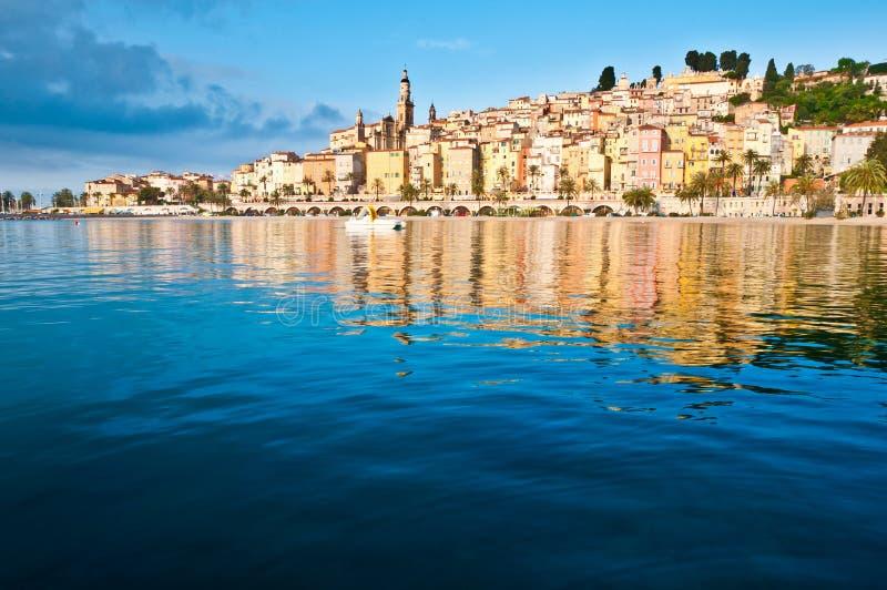 menton Provence widok wioska obraz stock