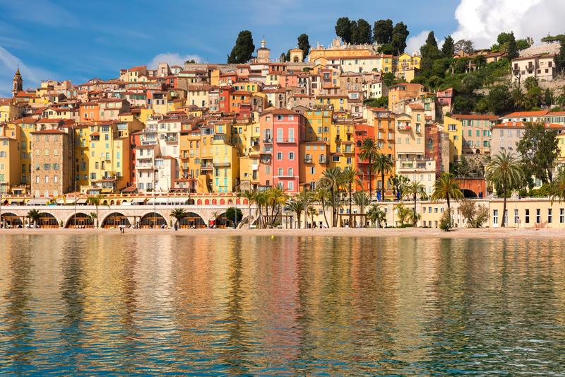 Menton, Riviera franc?s, Fran?a imagens de stock royalty free
