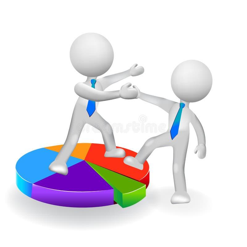 mentor des affaires 3D aidant l'équipe à partner jusqu'au vecteur de logo d'icône de succès illustration de vecteur