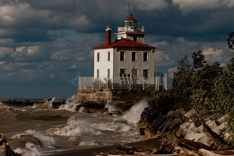 Download Mentor Headlands Lighthouse Stock Photography - Image: 20493512