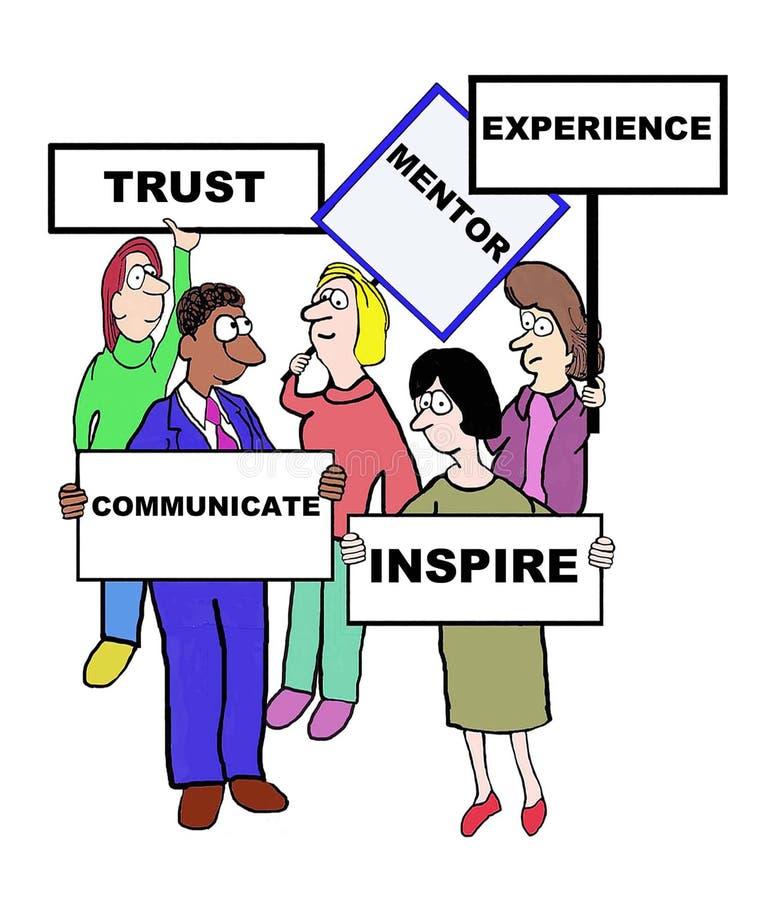 mentorat illustration de vecteur