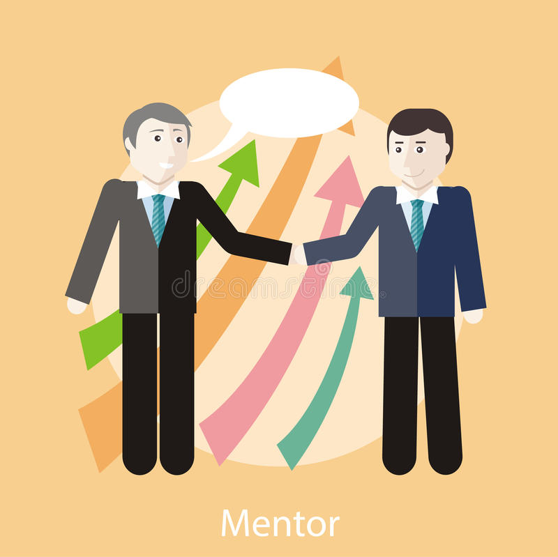 Mentorbegrepp vektor illustrationer