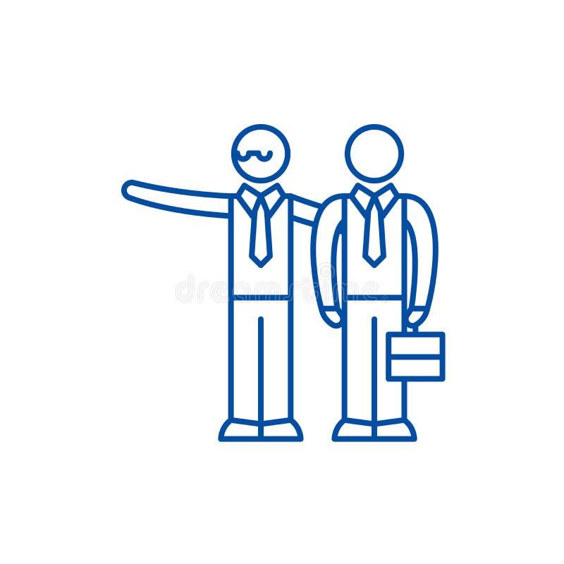 Mentoring έννοια εικονιδίων γραμμών Mentoring επίπεδο διανυσματικό σύμβολο, σημάδι, απεικόνιση περιλήψεων διανυσματική απεικόνιση