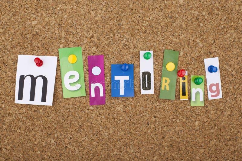 Mentoring έννοια του Word στοκ φωτογραφία με δικαίωμα ελεύθερης χρήσης